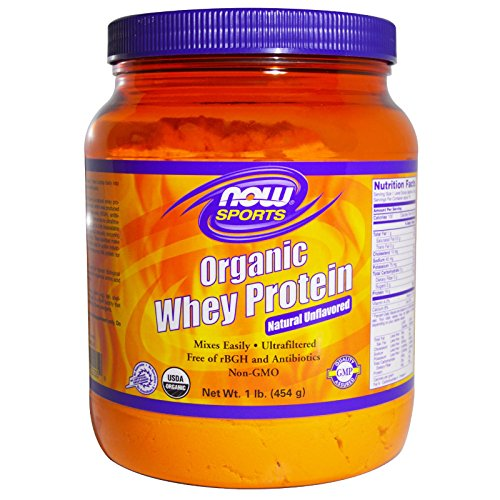 - Now Foods Whey Protein Natural Unflavored, Organic - 1 lb. 2 Pack