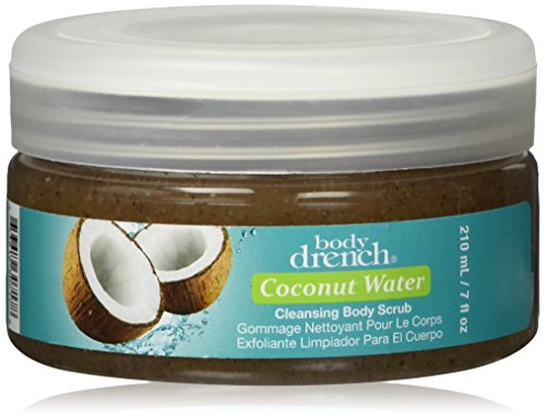 Body Drench Coconut Water Cleansing Body Scrub, 7 Ounce