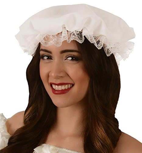 Kangaroo Women's White Colonial Mob Hat, Mother Goose,
