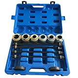 Qp-SUNROAD 27pcs Universal Press and Pull Sleeve Kit Bearing Seal Bush Removal Insertion Sleeve Tool Set w/Case