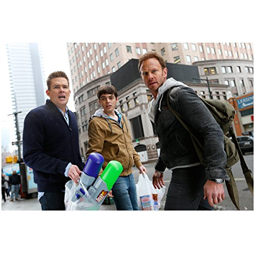 Sharknado 3 with Ian Ziering as Fin Shepard and Others on Street 8 x 10 Inch Photo (Sharknado Fin)