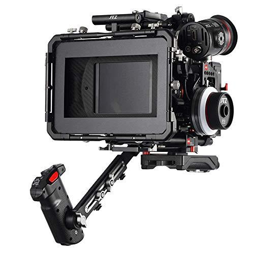 JTZ DP30 Pro Cine Carbon Fiber 4x5.65 Matte Box with 15mm//19mm Rail Rod Clamp for Sony FS5 FS7 A7 A7R A7S II III A9 Canon C100 C300 C500 5D 6D 7D Mark II III IV ARRI RED BMD Blackmagic BMPCC BMCC Pocket Panasonic GH3 GH4 GH5 GH5s Dslr Camera Video Camcord