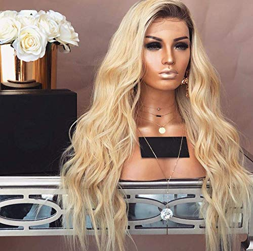 Dream Beauty Full Lace Human Hair Wig 8A Grade Ombre Blond 4/613 Color 130% Density Virgin Lace Front Wig