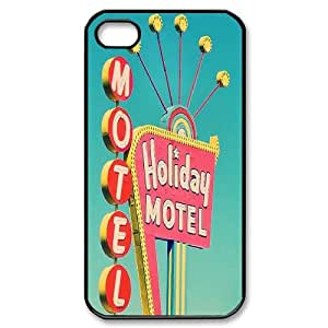 Qxhu Teal Retro Vintage Protective Snap On Hard Plastic Case for Iphone4,4S