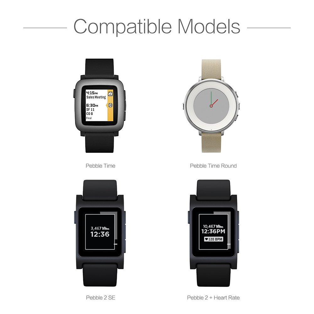TUSITA Chargeur pour Pebble Time,Time Steel,Time Round,Pebble 2+,Pebble 2SE: Amazon.fr: High-tech