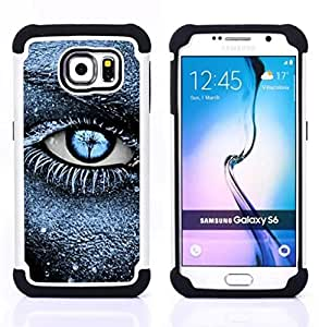 - eye frost black blue deep meaning clean/ H??brido 3in1 Deluxe Impreso duro Soft Alto Impacto caja de la armadura Defender - SHIMIN CAO - For Samsung Galaxy S6 G9200