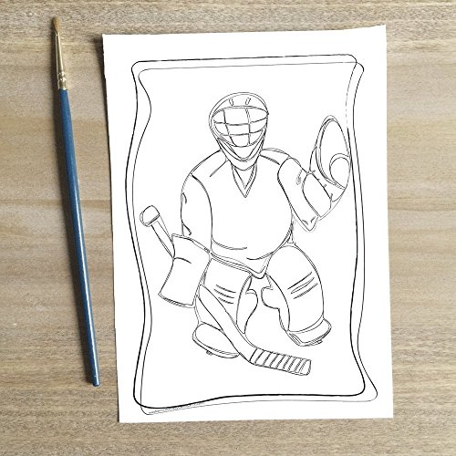 Mini Art Kit - Hockey Breaks by Watercolors By Design