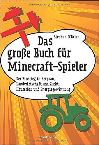 Das Große Buch Für MinecraftSpieler Der Einstieg In Bergbau - Minecraft spieler melden