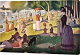 "This 9""x14"" premium giclee canvas art print of Sunday Afternoon On The Island Of La Grande Jatte by Georges Seurat is created on the finest quality artist-grade canvas, utilizing premier fade-resistant archival inks that ensure vibrant lasting colors..."