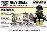 Navy Seals Gear Pack in Black (12 Pieces) – LEGO Compatible Minifigure Pieces, Baby & Kids Zone