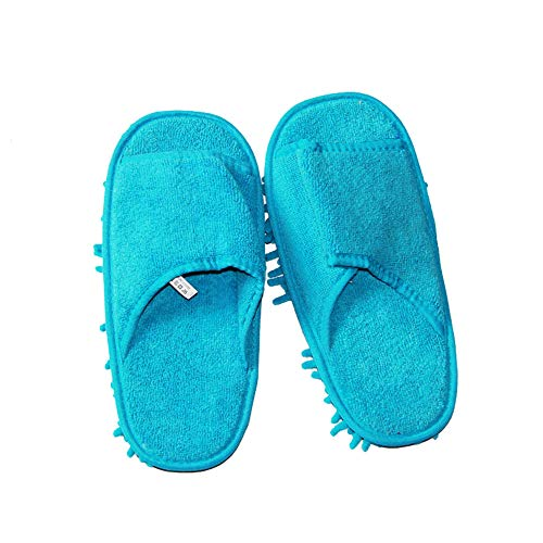 (Euone  Mop Shoes Clearance , Woman Men Mop Slippers Lazy Floor Foot Socks Shoes Quick Polishing Cleaning Dust)