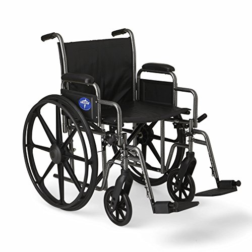 (Medline Easy-to-Clean and Durable Wheelchair with Desk-Length Arms and Swing-Away Leg Rests for Easy Transfers, 20