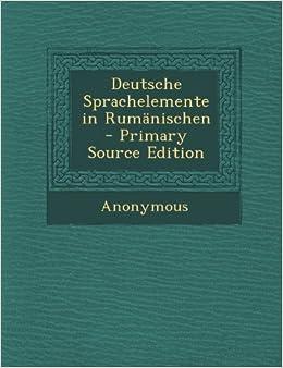 Book Deutsche Sprachelemente in Rumänischen