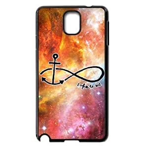 Diy Infinity Anchor Phone Case for samsung galaxy note 3 Black Shell Phone JFLIFE(TM) [Pattern-4]