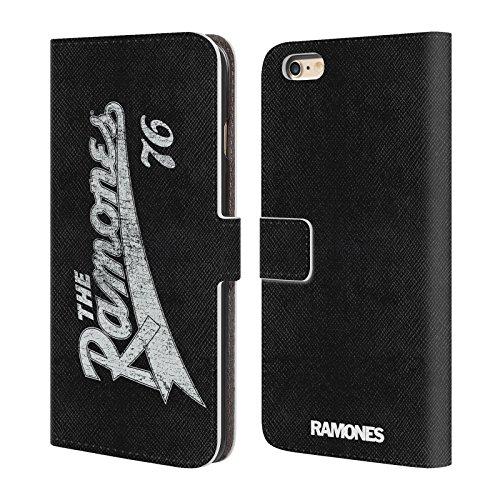 Officiel Ramones Team 76 Art Clé Étui Coque De Livre En Cuir Pour Apple iPhone 6 Plus / 6s Plus