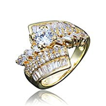 Gold Plating Wedding Ring for Women Yellow Gold Color