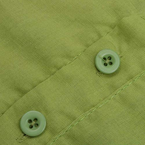 Hipster Vintage Monocromo Blusa Manica Magliette Casuali Spacco Corta Button Slim Rotondo Gr Casual Camicetta Fit Elegante Semplice Asimmetrica Collo Tops Estivi con Donna Fashion Glamorous awUtUY