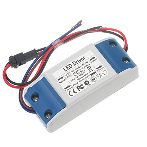 Chanzon LED Driver 600mA (Constant Current Output) 18V-34V (In: 85-277V AC-DC) (6-10)x3W 18W 20W 21W 24W 27W 30W Power Supply 600 mA Lighting Transformer for High Power 20 W COB Chips (Plastic Case)