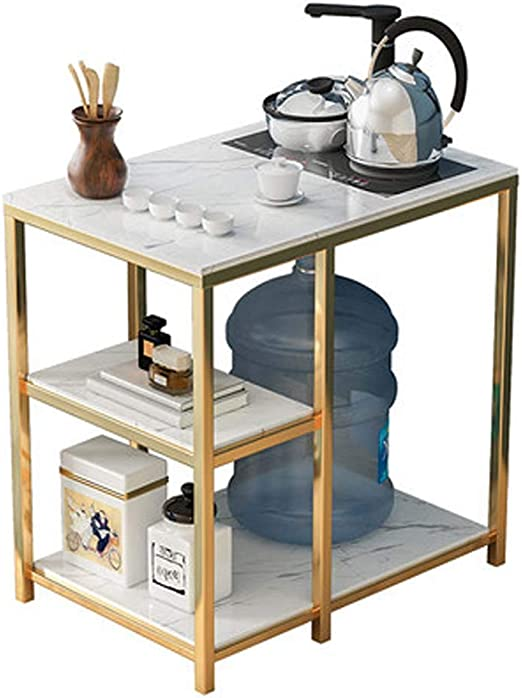 DGFTC-2 Mesa de Centro de diseño Simple Muebles Decorativos de mármol con Marco de Metal Estilo Vintage Tradicional Mesa de Centro Industrial Moderna Mesa de Centro Multifuncional para Sala de Estar: Amazon.es: