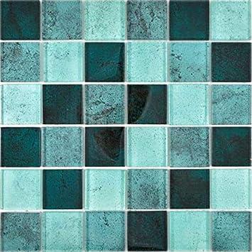 Transparentes Crystal Glasmosaik bunt Wand Fliesenspiegel K/üche Bad/_f 10 Mosaikmatten