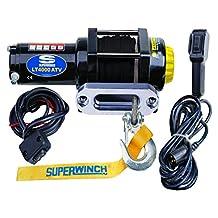 Superwinch 1140230 LT4000ATV SR 12 VDC Winch 4, 000lbs/1814kg Single Line Pull with Aluminum Hawse Fairlead, Handlebar Mount Toggle, Handheld Remote