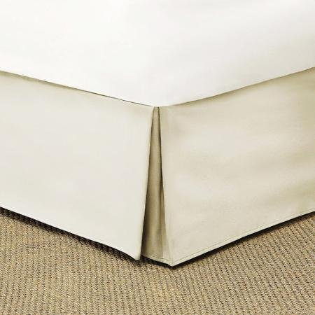 Mainstays Bed Skirt Collection with 2 Inverted Pleats and 100% Polyester Brushed Microfiber (Ivory)