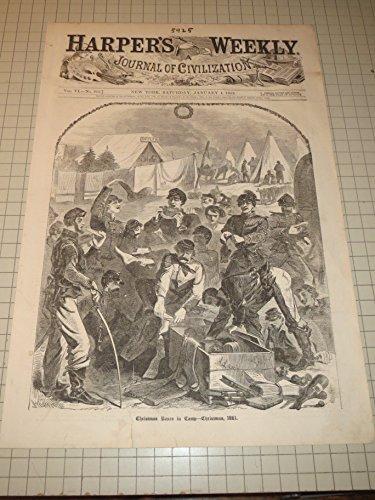 Engraving HW by Winslow Homer - Civil War - Christmas Boxes in Camp - Christmas 1861 - Winslow - Homer Engravings Winslow