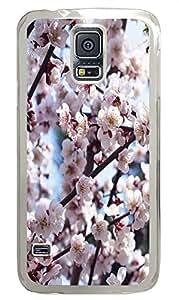 Samsung S5 case crazy cover Romantic Flowers 01 PC Transparent Custom Samsung Galaxy S5 Case Cover