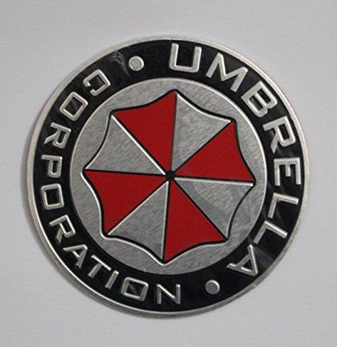 Resident Evil Stickers (1pcs Resident Evil metal Decal umbrella Emblem Sticker 3D Logo adhesive badge)