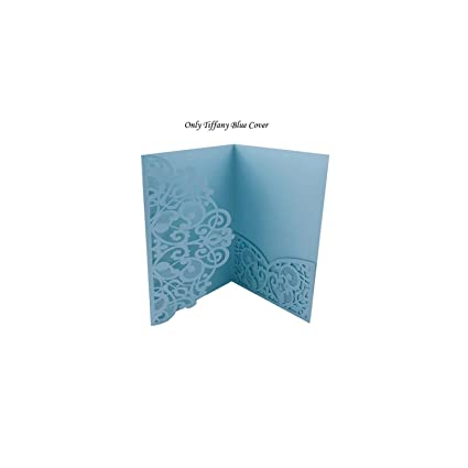 Amazon 1pcs Blue White Wedding Invitation Cards Greeting Card