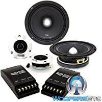 RE Audio SM6.5C PRO 6.5 300 Watts RMS 2-Way Component Speakers System