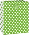 """12"""" Latex Lime Green Polka Dot Balloons, 6ct"""