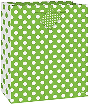 "12"" Latex Lime Green Polka Dot Balloons, 6ct"