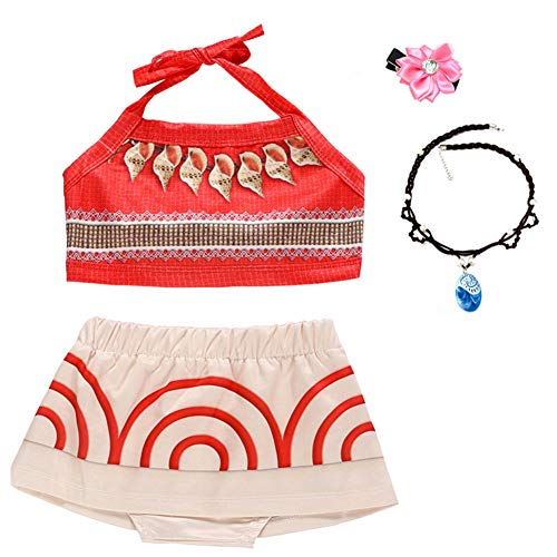 Baby Girls Princess Adventure Bathing Suit Halter Bikini Sets Swimsuit Swimwear Fancy Dress -