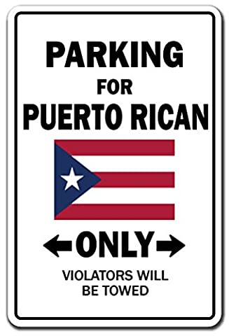 Parking For Puert Rican Only National Pride Sign | Indoor/Outdoor | Funny Home Décor for Garages, Living Rooms, Bedroom, Offices | SignMission Puerto Rico Flag National Pride Love - Puerto Rico Kitchen