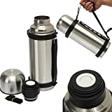 Vacuum Thermos Stainless Steel 32-ounce Portable Insulated Coffee Soup Bottle Thermos Travel Flask Bottle