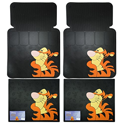 4pc Tigger Face Design Front and Rear