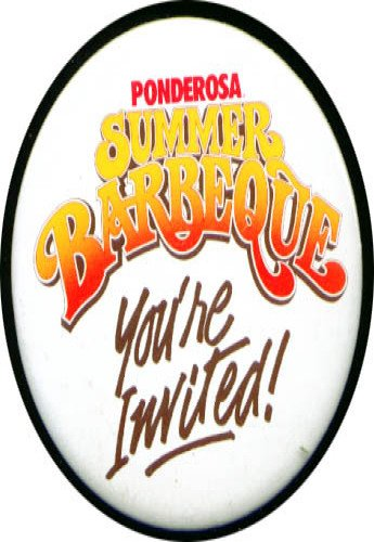 Ponderosa Summer Barbecue pinback 3