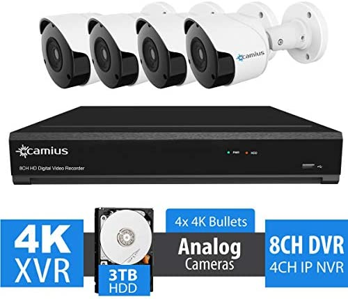 Camius Expandable 4K 8 Channel Hybrid DVR Security System