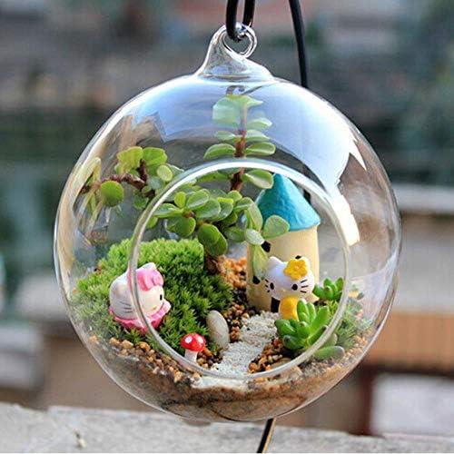 インテリアクリスタルボールグローブ形状透明ぶら下げガラス花瓶花植物ガラス花瓶コンテナー風景DIY結婚式の家の装飾のギフト