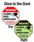": WISLIFE Video Surveillance Sign - Security Surveillance Signs, No Trespassing Signs 12"" X 12"""