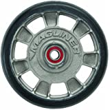 "Magline 10815 8"" Diameter Mold On Rubber Wheel with Red Sealed Semi Precision Ball Bearings"