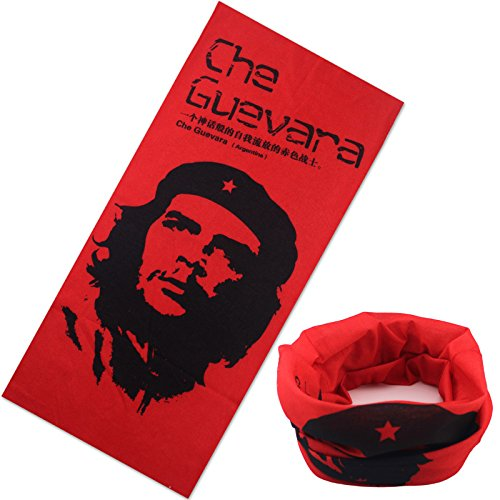 Halloween Skull Che Guevara Mask Motorcycle Bicycle Multi Function Scarf Half Face Masks Cap Neck Ghost Scarf Ski Mask outdoor -