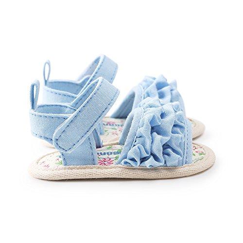 ESTAMICO Baby Mädchen Lauflernschuhe Blau