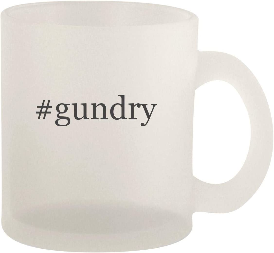 #gundry - Glass 10oz Frosted Coffee Mug