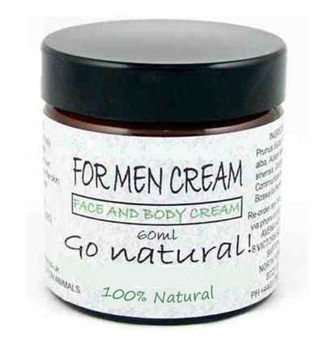 Men's Moisturiser Face Cream: 100% natural for smooth, hydrated, younger looking skin, all skin type 60ml