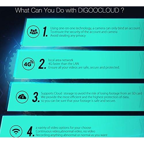 Teekini Digoo DG-MYQ Amazon Web Service Cloud Storage 2 1mm Lens