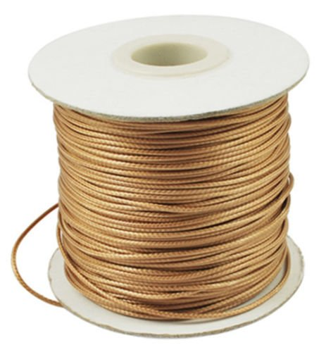 93yards 1mm Dark Goldenrod Korean Waxed Polyester Cord DIY Crafts Jewelry Making Balance World Inc