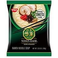 Nissin RAOH, Tonkotsu Flavor, Authentic Japanese-Style Ramen, 3.53oz. (6-Count)