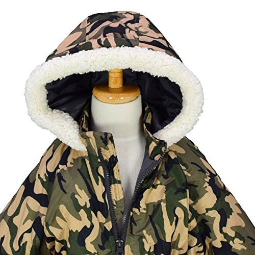 アスナロ(スキーウェア)ジャンプスーツ男児キッズ迷彩柄スノーコンビ中綿入り防寒つなぎ120ベージュ-カモ